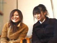 【エロ動画】 【アダルト動画】雪国に住む二人のドしろーと娘が照れマックスな4545鑑賞でお小遣い稼ぎ