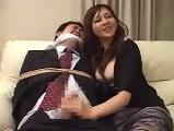 【H動画】 【アダルト動画】縛られた主人の目の前で犯され中だしされてしまうきゃわたん妻
