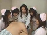 【アダルト動画】 【アダルト動画】女医と看護師たちに前立腺責め手淫されてしまう男性入院患者