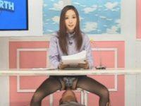 【無料エロ動画】 【アダルト動画】【おもしろ】まんこなめにパコパコされながらも必死にニュースを報道するキャスター!