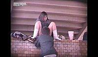 【エッチ動画】 【アダルト動画】溢れ出る情欲を抑止できずに人気の少ない屋外で青姦えっちし始める高校生カップルを覗き見!!
